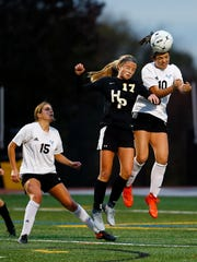 Hanover Park junior Claire Cahill and Parsippany Hills