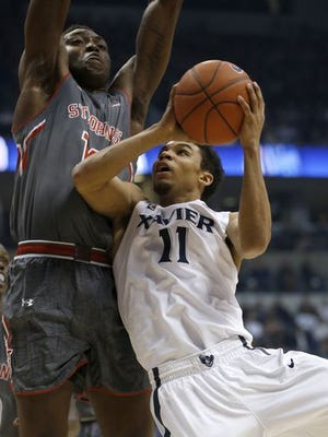 Dee Davis and the Musketeers lost to St. John's at Cintas Center Feb. 14 but have another shot at the Red Storm, Monday at Madison Square Garden.