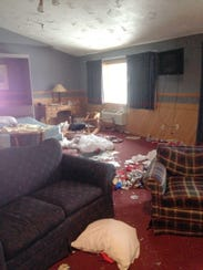 The damage sustained at The Inn at Treetops Resort