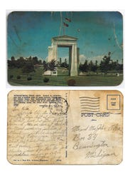 Pvt. Laurence O'Day sent postcards home from Korea.