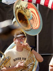 River View High School Marching Band member Jeremy