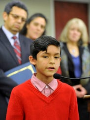 Angello Salazar, 9, of Hanover, said he feels like