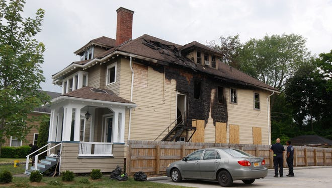 The fire at this multiple apartment home at 1055 South Plymouth Avenue in Rochester Sunday caused significant damage.