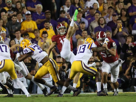 The Packers selected Alabama punter JK Scott in the fifth round of the NFL draft.