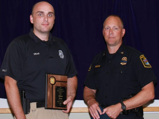 Officer Robert Dean was presented with the Department's