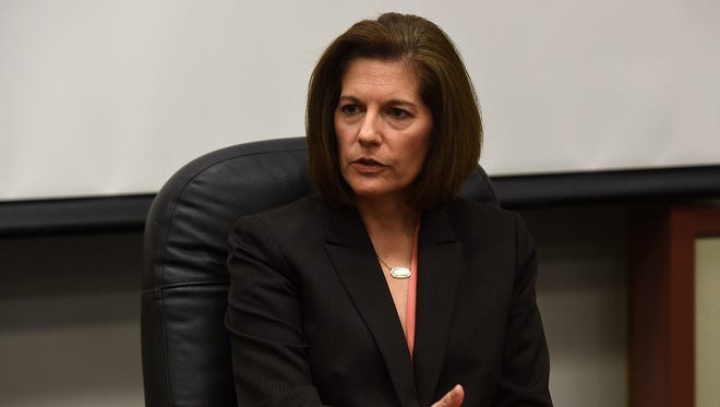 Former Nevada attorney general Catherine Cortez Masto was elected to the U.S. Senate on Tuesday, Nov. 8, 2016, becoming the first Latina in the Senate. She is taking the seat held by outgoing Sen. Harry Reid.