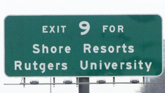 A $2.3 billion project that doubled the lanes on the New Jersey Turnpike between Interchanges 6 and 9 is opening. (file photo)