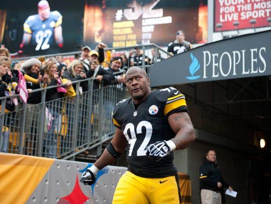 Steelers linebacker James Harrison