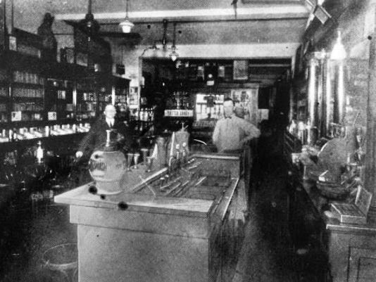 Loyer's Pharmacy in Red Lion as it looked in 1930 when it was know as Strock's Drug Store. File photo
