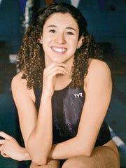 Senior swimmer Alejandra Acosta