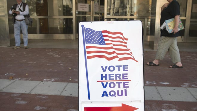 Early voting at the City-County Building, Indianapolis, Wednesday, Oct. 12, 2016.
