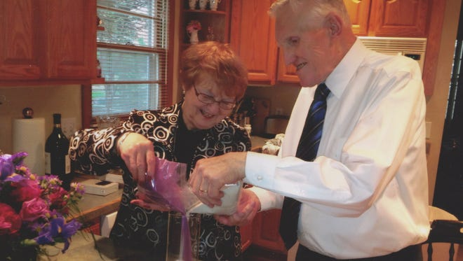 Michael and Patricia Murrane were married for more than 50 years. His wedding ring was 'the only material thing my dad cared about,' daughter Mary Murrane says. The lost ring was returned to his family Tuesday, Jan. 28, 2014.