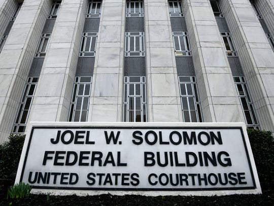 The Joel W. Solomon Federal Building and United States Courthouse in Chattanooga Monday, Feb. 13, 2018 where four former Pilot employees were on trial on charges of conspiracy to commit wire and mail fraud before U.S. District Judge Curtis Collier.