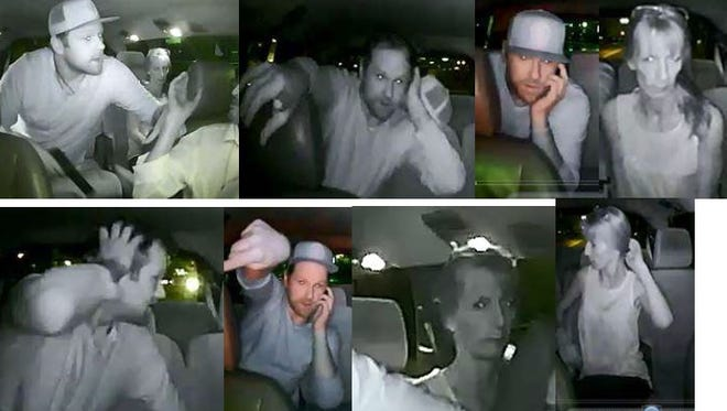 The man in taxi cab surveillance photos has been identified as Russell Bradley Hilsher. Detectives are still trying to identify the woman.