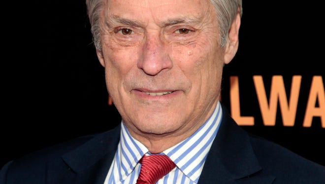 "Bob Simon of ""60 Minutes,"" attends the New York premiere of ""The Railway Man"" in New York, April 7, 2014."