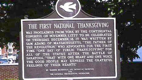 York's Thanksgiving plaque is being restored.