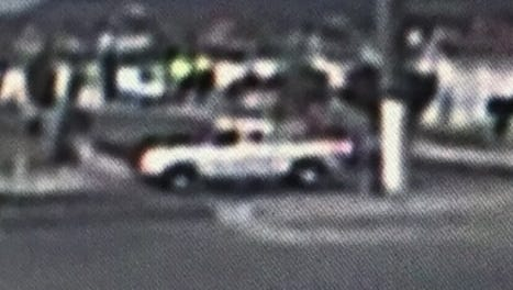The New Mexico State Police have released this image of a truck they say was involved in a fatal hit-and-run Thursday in Anthony, N.M. Police are searching for the driver.