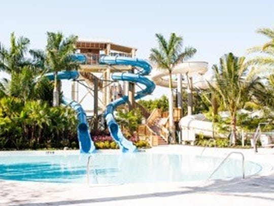 A $7.1 million pool-scape project will official at the Hyatt Regency Coconut Point Resort and Spa on Friday. Resort employees were given a preview of the site Sunday.