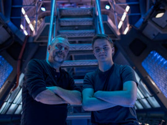 "Caleb Wild with Jeff Woolnough on the set of ""The Expanse."""