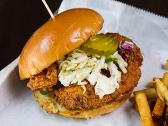 Frank & Maple's Hot Damn Fried Chicken Sandwich at