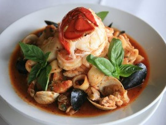 Seafood dish at La Griglia.