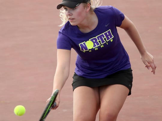 North Kitsap tennis player Danya Wallis won her fourth consecutive Class 2A girls tennis singles title in May.