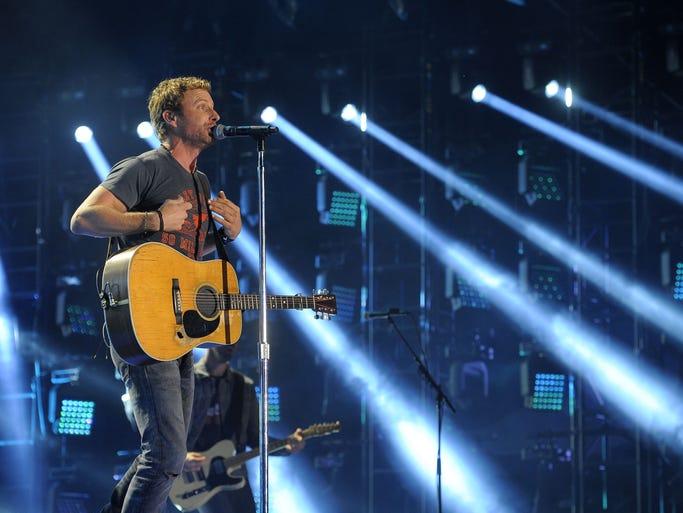 Dierks Bentley performs at CMA Fest at LP Field Thursday June 5, 2014, in Nashville, TN.