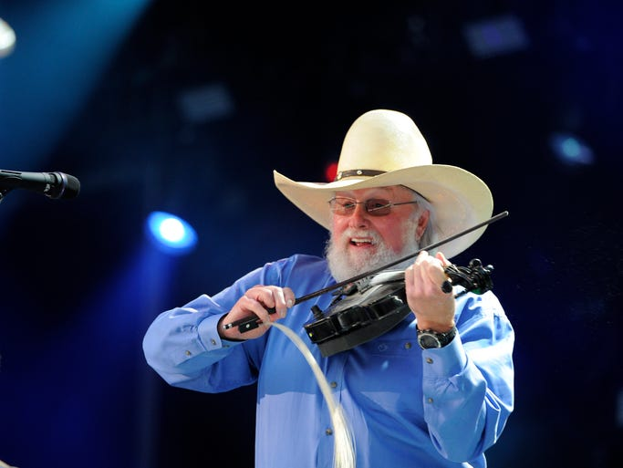 Charlie Daniels performs with his  band at CMA Fest at LP Field Sunday June 8, 2014.