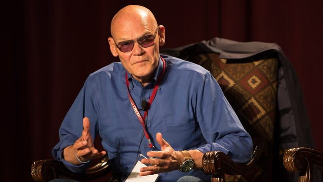 Political Consultant James Carville speaks on Thursday September 15, 2016, during NMSU's Domenici Public Policy Conference.