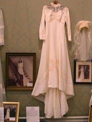 The display of wedding dresses at Oaklands Mansion will be on display through Sunday.
