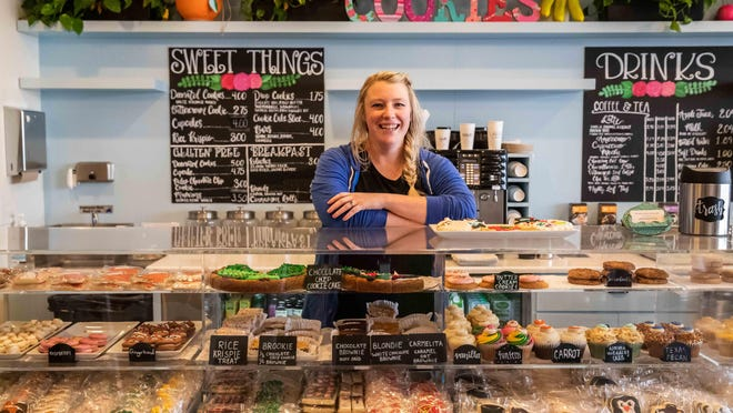 Hayley Callaway runs two locations of Hayley Cakes and Cookies, a bakery known for its decorated treats.