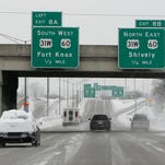 I-264 in Shively looks to be in good shape. Thusday, March 5, 2015.