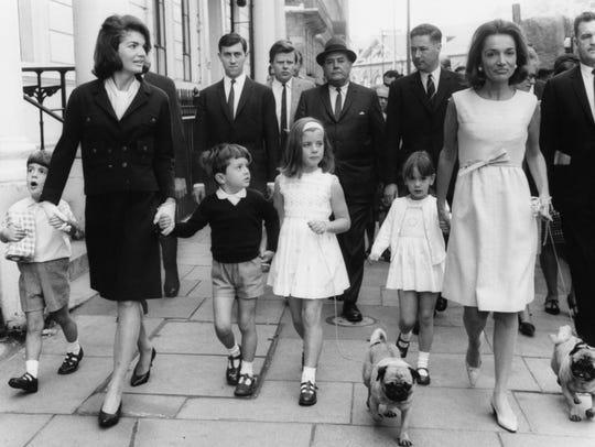 Jacqueline Kennedy (left), widow of former US President