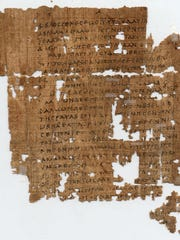 One of the world's oldest fragments of the gospel of Saint Matthew, written on papyrus and dating to the 3rd century CE, was once part of a codex (book). This fragment, written in ancient Greek, contains the beginning of the Gospel of Matthew (Ch 1. Verses 1-9, 12, 14-20). It begins with the lineage of Jesus, then describes how Mary became with child by the Holy Spirit. This is one of ten extraordinary pieces on short-term display in the special exhibition, Sacred Writings: Extraordinary Texts of the Biblical World.