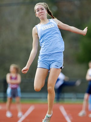 South Burlington's Mollie Gribbin, a state record-holder in several events, is on the list for her marks in long jump and triple jump.