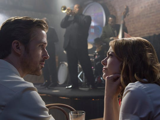 Ryan Gosling, left, loves jazz and Emma Stone loves