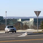 This is an exterior photo of Sanofi Aventis at 55 Corporate Drive in Bridgewater.