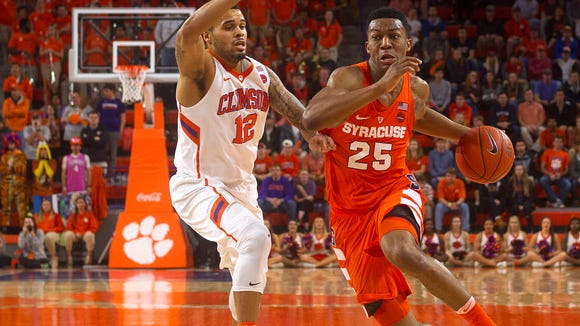 Freshman guard Tyus Battle, who scored a career-high 23 points in Saturday's win over Virginia, had made only one shot all night before drilling his game-winning 3-pointer at the buzzer on Tuesday night at Clemson.