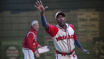 Robert Karma Robinson stars as Satchel Paige in the new play at Playhouse in the Park.