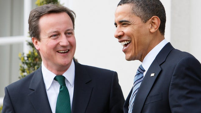 President Obama and British Prime Minister David Cameron.