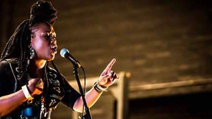 Sha'Condria Sibley performing.