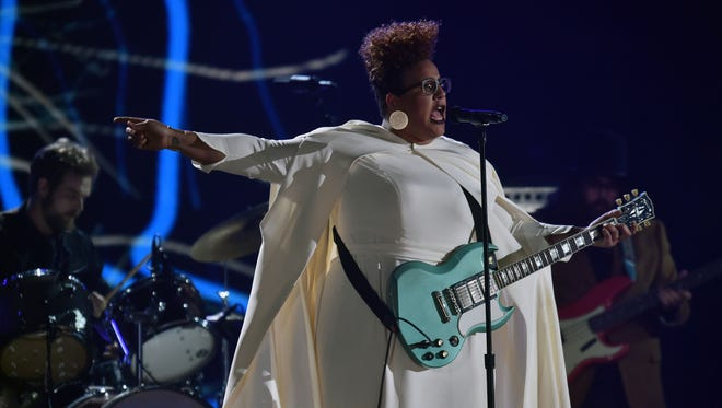 Alabama Shakes performs during the 58th Grammy Awards at the Staples Center.