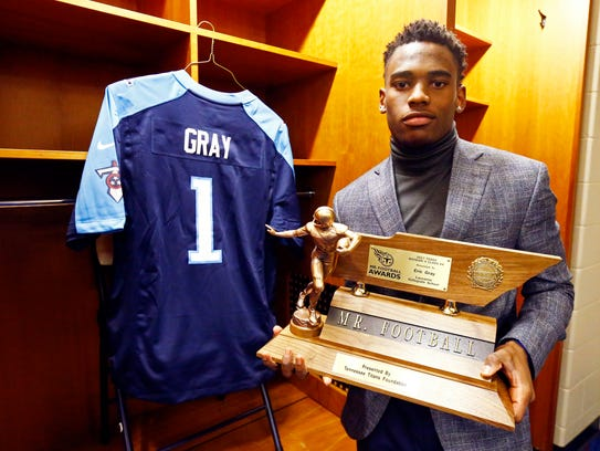 Lausanne's Eric Gray won his second straight Mr. Football award Monday in Nashville.