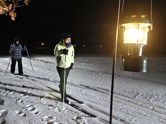 The Moonlight Ski at Quarry Park & Nature Preserve takes place on lighted trails.