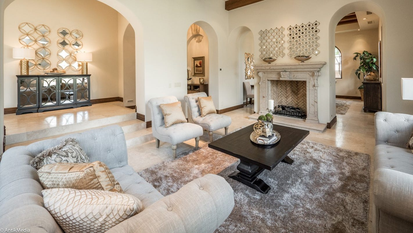 luxury homes 3m scottsdale mansion features heated pool and spa