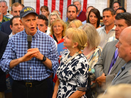 Gov. Rick Scott and First Lady Ann Scott made a campaign