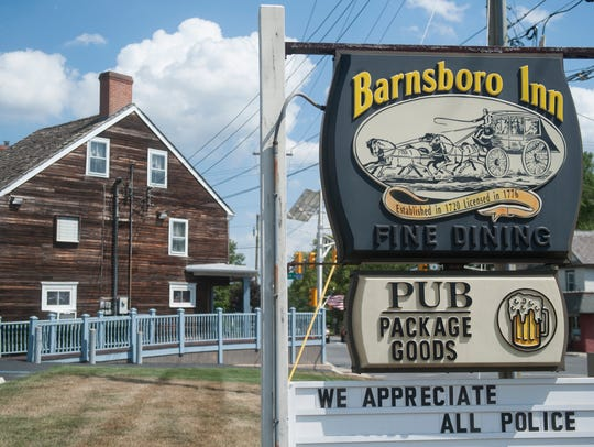 The exterior of the Barnsboro Inn. a landmark  in Sewell.