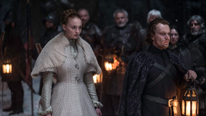 Sansa Stark and Theon Greyjoy in 'Unbowed, Unbent, Unbroken.'