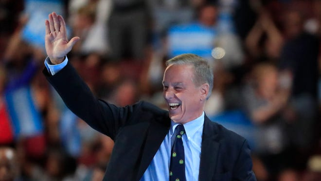 Former Vermont Gov. Howard Dean appears at the Democratic National Convention in Philadelphia.