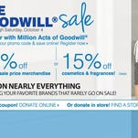 Donate to Goodwill, get 15% off cosmetics and fragrance at Carson's.